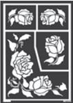 Fensterschablone Rosen