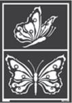 Fensterschablone Schmetterlinge
