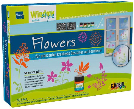Window Style Set Flowers, 74735