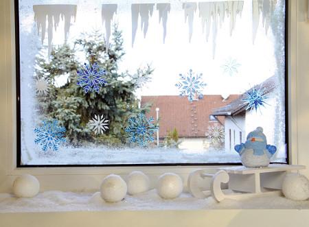 Window-Style Eiskristalle Fensterschablone