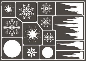 Window-Style Eiskristalle Schablone