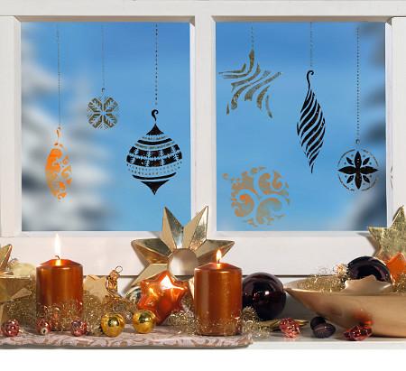 Window-Style Weihnachtsschmuck Fensterschablone