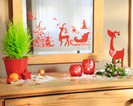 Window-Style Winterwald Fensterschablone
