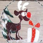 Window Style Weihnachten, Rentier